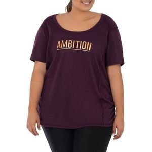 Terra & Sky Ambition Ruched Plus Size Active Tee